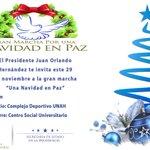 """Pdte @JuanOrlandoH les invita a la gran marcha por una """"Navidad En Paz"""". Vamos todos, como una Gran Nación. http://t.co/3QayP5GerX"""
