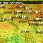 So far, this has been the warmest #Thanksgiving since 1953! Current temp in #Phoenix is 82º and still climbing! #azwx http://t.co/X9qekVdsVY