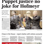 Todays front page: Puppet justice no joke for Hofmeyer Get your copy or read it using our app http://t.co/PylPEAoz9U http://t.co/M7oC3Cxkcf