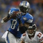 With 146 yards today, Calvin Johnson is fastest in NFL history to 10,000 yards receiving, reaching mark in 115 games. http://t.co/0FoQB62QvW