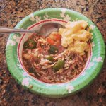 Got my Thanksgiving gumbo ???? thanks to my amazing wife! Time to head to the stadium http://t.co/96tLiyg2gV