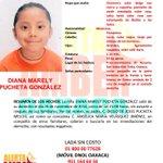 Se activa #AlertaAMBER para localizar a DIANA MARELY PUCHETA GONZÁLEZ de 8 años #Oaxaca http://t.co/wfDpK0qyRI http://t.co/71p3uzJjgF