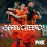 Het is ze gelukt: de #Oranjeleeuwinnen gaan naar het WK! Gefeliciteerd! #itaned @OnsOranje @vrouwen_voetbal http://t.co/kQrURsx49Z