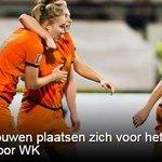 Oranjevrouwen plaatsen zich voor het eerst in historie voor WK voetbal: http://t.co/Pu246WmaDT http://t.co/A5eFMYEqD3
