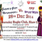 South Yorkshire Christmas Charity Rugby Game, Sunday 28th December, at @BarnsleyRUFC   #rugbyfamily #rugbyunited http://t.co/TGS8TVftr7