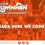 Oranjeleeuwinnen gefeliciteerd met jullie fantastische overwinning op Italië! Op naar het WK in Canada! #ITANED http://t.co/yMJvZVZCvw