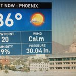 At this point we have at least tied the record for today @ 86 degrees #Phoenix #azwx #Thanksgiving @12News http://t.co/CObY0goI0Z
