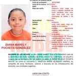Se activa Alerta AMBER para localizar a Diana Marely Pucheta González de 8 años de edad http://t.co/O4Eq6nVKY4 || http://t.co/dHKBkcf2DR