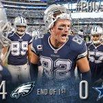 End of the 1st quarter: Cowboys 0, Eagles 14 http://t.co/jv2cl5BROw http://t.co/nXw5DOJOrj