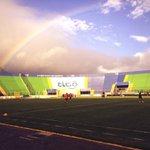 Lindo arco iris en el entrenamiento, cosas buenas llegan al club #MotaguaSoy http://t.co/fV6ptOFL2X