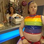 Mick weyman looks delighted with the new rovers away shirt #gaypride2015 http://t.co/ZYY2tUQVEr