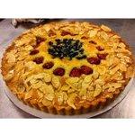 #HappyThanksgiving from #cakehearted Having some #applestrips & #frangipanetart #NYC #Thanksgiving http://t.co/SLGNteLfh3