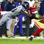 Seahawks WR Ricardo Lockette hits 49ers CB Perrish Cox and forces a fumble during the second quarter @jlokseattle http://t.co/bRq3x2CAJe