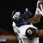 TOUCHDOWN TCU! Josh Doctson comes down with the 22-yard touchdown pass from Boykin! TCU 27, Texas 3. #TCUvsTEX http://t.co/2LhuXi7RQr