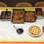 Our on-duty personnel tonight are about to start enjoying this potluck dinner. Happy Thanksgiving! http://t.co/ZJDk85anyV