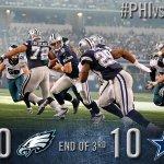 End of the 3rd quarter: Cowboys 10, Eagles 30 http://t.co/n9oTCChvRQ http://t.co/HU2rkAsSol