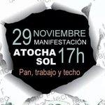 #29N #Madrid Pan Trabajo y Techo @lalivaquero @IsaMastro @blayams @karmanuela @islatempestad @golondrinadnata http://t.co/O4tVcxCnGl