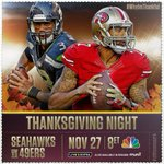 The Seahawks take on the 49ers on Thanksgiving Night! Tune in on NBC or STREAM HERE: http://t.co/70HcrlJkHQ http://t.co/sKjeZUQK2P