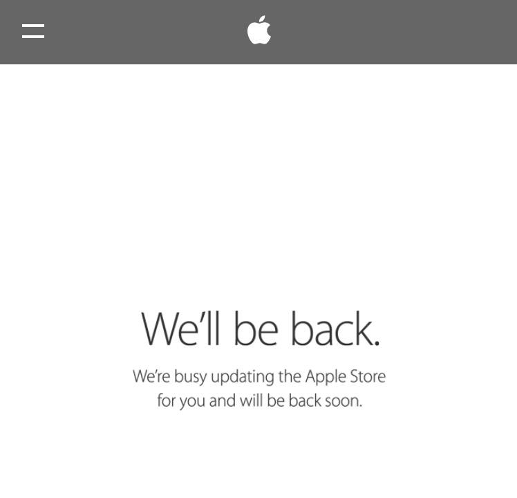 The Apple Store is down. http://t.co/Jfbgq7gGja