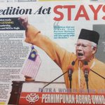Dear MCA, MIC, Gerakan, why you guys agree to this Sedition Act..? http://t.co/Gevh0TkOBX