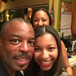 RT @MicaBurton: Happy Thansgiving from the Burtons! @levarburton (nice photobomb, mom)
