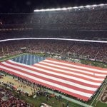 Thankful for our freedom. That Star Spangled Banner does indeed still wave. #Thanksgiving #SEAvsSF http://t.co/xYP0Z2Xkci