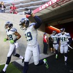 Earl Thomas and the Seahawks run out to the field. @bettinahansen #SEAvsSF Gallery: http://t.co/n25sEqIOib http://t.co/x8FJ4hFjWV