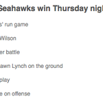 Ok, Hawks fans: What's the key to victory tonight? Vote here: http://t.co/LF4TZLham0 #SEAvsSF http://t.co/TJ5kIz4790