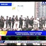 PHOTO: Tennis stars ring opening bell at PSE http://t.co/kZ0vJ1nsWj