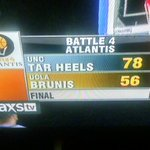 """A nice win for UNC over the UCLA """"Brunis"""" http://t.co/SICdpjCWN6"""