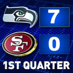 #SEAvsSF 1Q score: Seahawks 7, 49ers 0. Live game updates: http://t.co/SIBqUJ1AYf http://t.co/IC8zWIayII