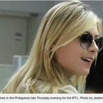 Maria Sharapova arrives in PH for IPTL http://t.co/NWHPVmU85S @MariaSharapova will be part of Team Manila Mavericks http://t.co/No10N4mY8Z