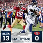 Seahawks outgaining 49ers 202-71 total yards at the half. #SEAvsSF #Thanksgiving http://t.co/ema0U6DVNk