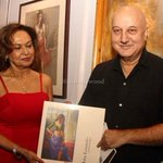 RT @itsBollywood: Pic: @AnupamPkher at launch of John Fernandes coffee table book http://t.co/RcX3WrvIHE