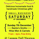 Head to Cannon Hall for our Xmas market every wkend from 6th/7th up to Xmas! #GiftsAndGrub #iloves #Barnsleyisbrill http://t.co/tXE96T8XTU