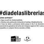 Comparte el  #diadelaslibrerias para participar en nuestro #concurso y consigue libros gratis ;) http://t.co/KTDtpzhmhd