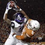 No. 5 TCU forces 6 turnovers in 48-10 blowout win over Texas. Josh Doctson leads Horned Frogs with 115 Rec yds, TD. http://t.co/Wb5wQ62Lso