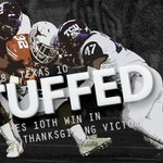 FINAL: #5 TCU 48, Texas 10 Horned Frogs improve to 10-1 overall and 7-1 in Big 12 play. #BeatTexas http://t.co/eBUTxVyEzK