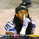 ".@RSherman_25 tells the 49er fans ""SHHHHH"" http://t.co/jUFNdBBHA0"