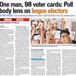 #Shocking One Man 98 Voter Cards: Poll Body Lens On Bogus Votes In Delhi. @ArvindKejriwal @AamAadmiParty #MufflerMan http://t.co/SEJAaznEXL