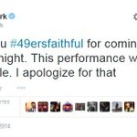 49ers owner Jed York apologizes after loss, calling teams performance unacceptable. http://t.co/LSxAxd0Ipr