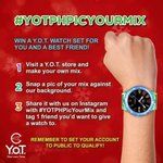 Want to win a Y.O.T. watch set? Join their latest promo now! 😊#YOTPHPicYourMix http://t.co/LBSdx685Cx
