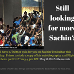 RT @bvhk: @cricketaakash Quiz on @sachin_rt at 3 PM today. Pls. RT if possible http://t.co/B0hXx123My #tizzy @infinitezounds