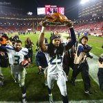 """.@jlokseattle captures @rsherman_25 and the Turkey Day """"Trophy"""" http://t.co/l1liKVA4WF #Seahawks"""