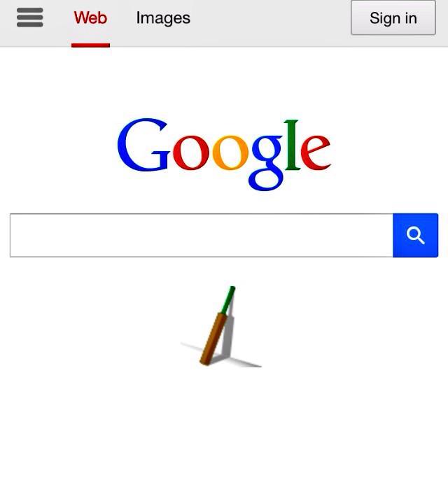 Nice one, Google. #putoutyourbats #63notout http://t.co/AaAhDD3qpJ