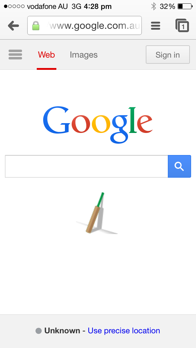 Google's tribute to Phillip Hughes. #putoutyourbats http://t.co/vXyeYzEzmg