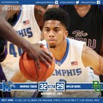 HALFTIME: Memphis leads Baylor 32-29 in Las Vegas after trailing 8-0 to open game. #GoTigersGo #ItsBigTime http://t.co/aZrmWKVuGS