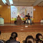 Zehra Nigah & Ali Hamza -Dastaan Saraay -poetry for & with children - Childrens Literature Festival, Lahore. Lovely http://t.co/Zbr64cHrDa