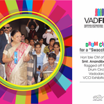 Honble CM of Guj @anandibenpatel inaugurated the 1st Drum Circle in Vadodara at VCCI Exhibition, as part of #VadFest http://t.co/XlrvhoTcqW