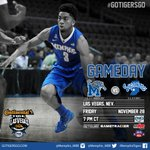 Its GameDay!! @Memphis_MBB plays Indiana State in the Las Vegas Invitational today at 7 pm CT #GoTigersGo http://t.co/pWZrTMRqrz